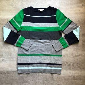 Liz Claiborne striped cotton sweater size M